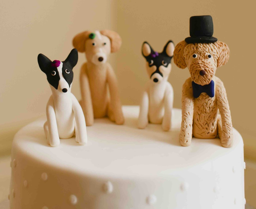 Wedding Dog Cake Topper