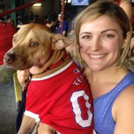 Bark at the Park – Dog fun at the Rangers game